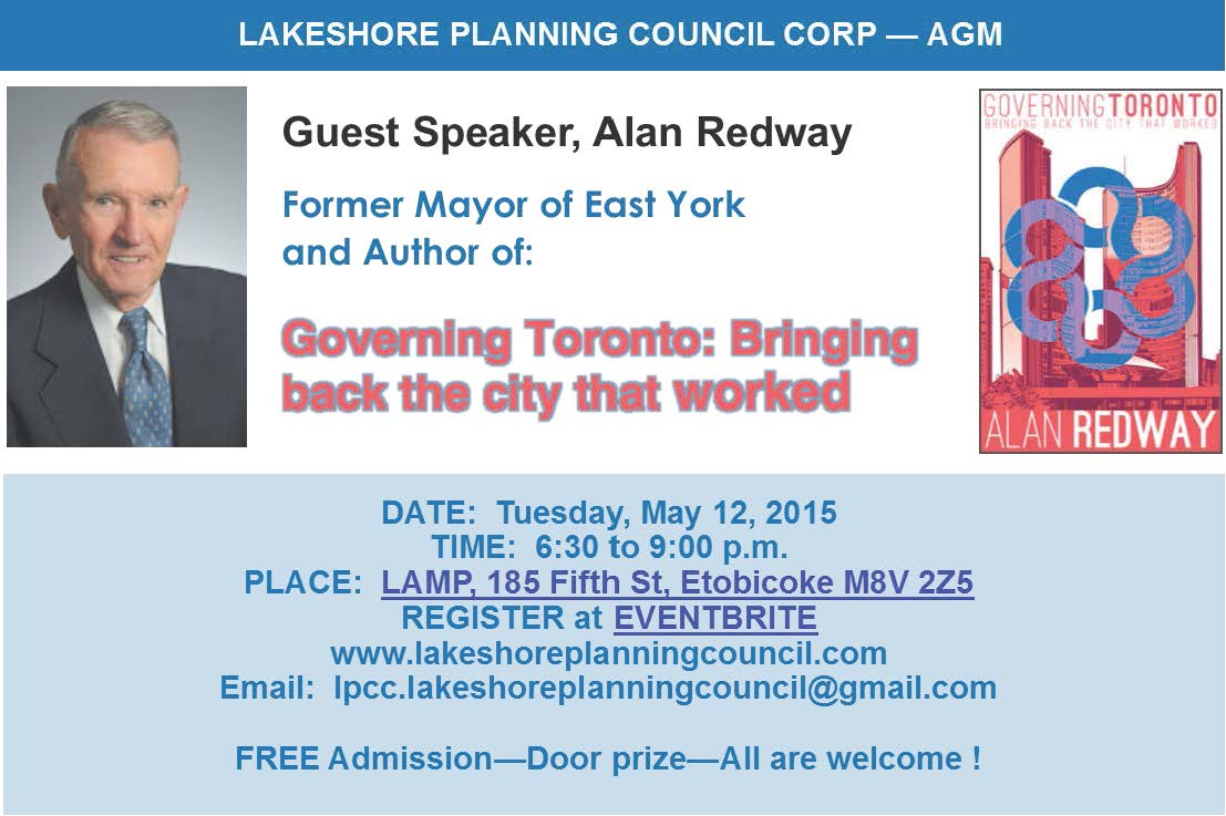 LPCC AGM - MAY 12, 2015 - NEWSLETTER